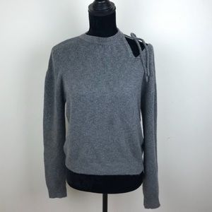 Gray Cold Shoulder Sweater- XL